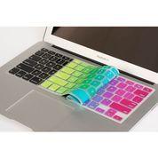 Skin Mac book Air 13 inch motif pelangi warna warni Apple Keyboard