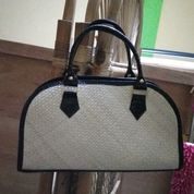 handbag pandan tali panjang