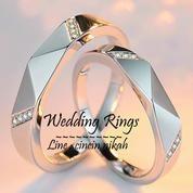 cincin kawin palladium, nikah, tunangan, couple