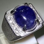 Blue Sapphire .Ring Titanium Plus Memo. Code 11