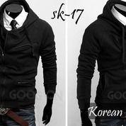Jaket Pria, Jaket Korea, Jaket Kasual Black Style | SK-17