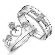 cincin kawin, couple, tunangan, nikah, perak emas palladium mahkota