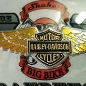 Emblem harley davidson buat motor , helm , mobil