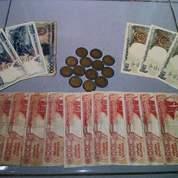 Uang rupiah kuno uang rupiah langka uang rupiah lama uang rupiah koleksi kolektor asli 100% baru bersih rapih pecahan logam & kertas