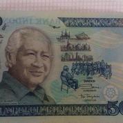 Uang Kertas Plastik Kuno 50Ribu Zaman Era Pres. Soeharto