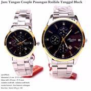 Jam Tangan Couple Ruilida Tanggal Original Stainless Black