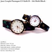 Jam Tangan Couple LV MultiBlack Full Set