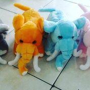 """Boneka Gajah Kirei Dengan Belalai & Gading / Elephant Kirei Doll 12"""" Inchi Kurleb 31cm"""