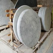 Meja Bundar Marmer Antik 100 Cm