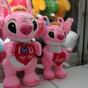 Boneka Stitch Standing With Love / Berdiri Dengan Hati Ukuran L Kurleb 60 Cm M Kurleb 50 Cm Grosir Min Order 3 Lebih Murah