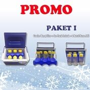 Cooler Box 5 Liter PAKET I Free 6 BOTOL SUSU ASI + Ice Pack Lekuk