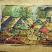 Lukisan Motip Pasar