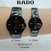 Jam Tangan Rado Couple Keramik Full Black Tanggal