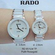 Jam Tangan Rado Couple Keramik Putih Rosgold,Tanggal