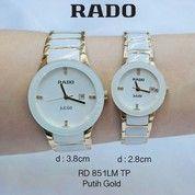 Jam Tangan Rado Couple Keramik Putih Gold
