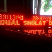 Jam Jadwal Sholat LED Running Text. Diset Via HP Android. Bandung