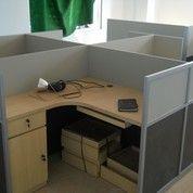 Meja Sekat Kantor X -Shape + Furniture Semarang