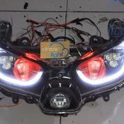 Yamaha XMAX Custom Headlamp OEM VRZ LED Projector Projie + DRL + Cree