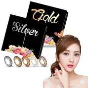 Softlens X2 Exoticon Ice Silver Gold Original Bisa Minus