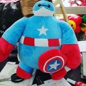 Boneka Tokoh Film Baymax Big Hero Kostum Captain America / Kapten Amerika SNI Ukuran M Kurleb 35cm Harga 80rb Per Pcs Berat Kurleb 500 Gram