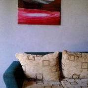 LUKISAN FUSION /Abstrak Minimalist Modern Dengan 2 Sisi Gambar
