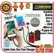 Sumo Trio-Q Kabel Data 3in1 For IOS Lightning / Android / Tipe-C