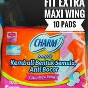 Pembalut Charm Body Fit Extra Maxi Wing 23cm Isi 10 Pad