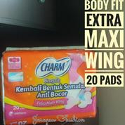Pembalut Charm Body Fit Extra Maxi Wing 23cm Isi 20 Pad