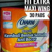 Pembalut Charm Body Fit Extra Maxi Wing 23cm Isi 30 Pad