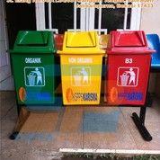 Tong Sampah Fiber Gandeng 3