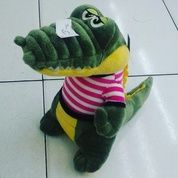 Boneka Hewan / Binatang Buas Buaya Duduk / Crocodile Sit With Striple SNI Ukuran M Kurleb 31 Cm Lucu