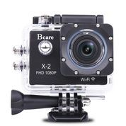 "Bcare Bcam X - 2 Action Camera Wifi 12mp 1080 P-Layar 2 ""Black"