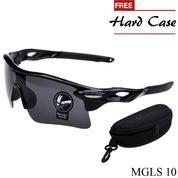 Kacamata Sport Pria Polycarbonate Hitam MGLS 10