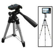 Weifeng Portable Tripod Stand 4-Section Aluminium Legs With Brace - WT-3110A - Silver Black
