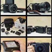 Canon Eos M10 + Extra Batery + Voking Lens Adapter Auto Focus + Canon 50mm 1.8 + Accesories