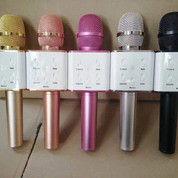 Microphone Q7 Bluetooth Wireless Alat Karaoke Bisa Untuk Android / IOS