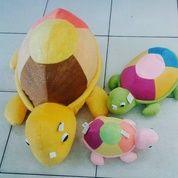 Boneka Kura Kura / Turtle Colour Metalik SNI Halus Lembut & Empuk Terdiri Dari 3 Ukuran