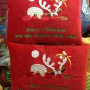 Souvenir Bantal Natal Bisa Bordir Logo Anda Bantal Kotak