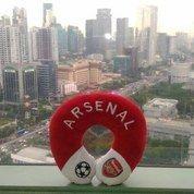 Bantal Leher Bantal Kepala Traveling Klub Bola Inggris Arsenal FC SNI