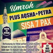 Umroh Plus Aqsa Sisa 7 Pax Lagi, Bersama Travel Resmi Berizin