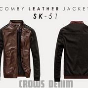 Leaher Comby Jacket Korean Style SK51