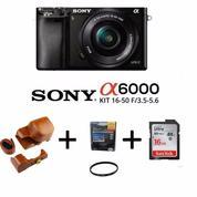 Mirrorless Digital Camera SONY Alpha A6000 KIT Lens 16-50mm [Paket]
