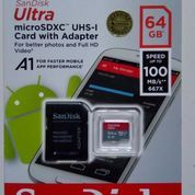 Memory Card Micro Sd Sandisk Ultra A1 64gb Class 10 Speed Up To 100mb/S Ori