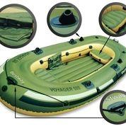 Perahu Karet Voyager 500 Anak & Dewasa Free Dayung Aluminium