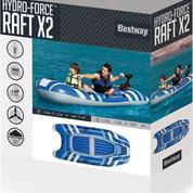 Perahu Karet Pompa Besway Hydro Force X2 Muat 2 Orang