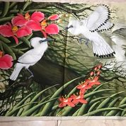 Lukisan Sepasang Burung Jalak Bali