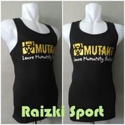 Kaos Singlet Cotton Berlogo MUTANT Warna Hitam