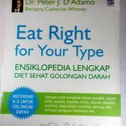 Buku Bekas Eat Right For Your Type Ensiklopedia Diet Sehat Golongan Darah