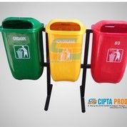 Tersedia Tong Sampah Fiber 50L Gandeng