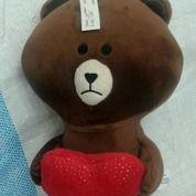 """Boneka Sticker Emoticon Line Brownie Bear Metalik 33cm 13""""Inch SNI NEW"""
